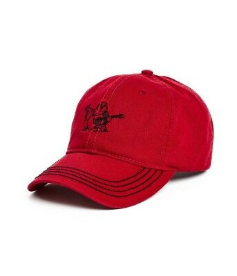Brand New True Religion Core Bhudda Hat Ruby Red Adjustable Baseball Hat Cap