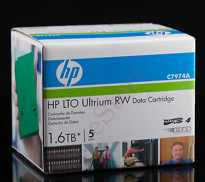 2 x HP 1.6TB LTO-4 Ultrium RW Data Cartridge x5 Pack (Brand New Sealed)