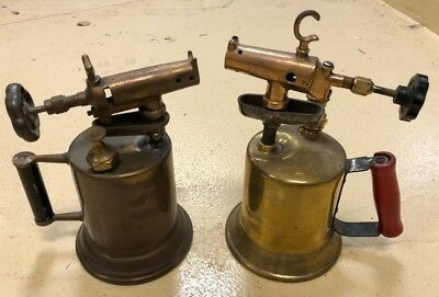 Two (2) Vintage Brass Blow Torches