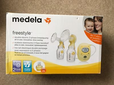 New Medela Freestyle Double Electric Breastpump with Calma #
