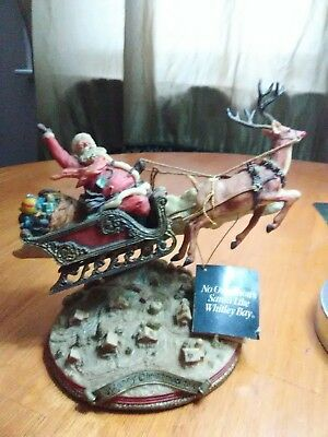 1989 vintage whitley bay santa with reindeer perfect condition