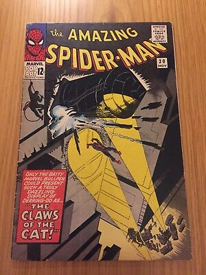 Amazing Spider-Man 30 Silver Age (1965) 1St Appearance Of The Cat