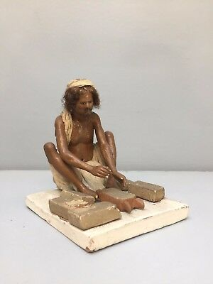 HIGHLY DETAILED ANTIQUE INDIAN CLAY MODEL brick maker