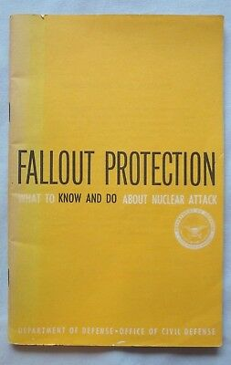 1961 Civil Defense Handbook, Fallout Protection Nuclear Attack 46 Pages