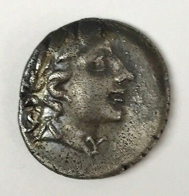 Ancient Greek Silver Drachm Coin Masicytes, Lycia, Head of Apollo