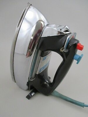 Vintage 1960s GE General Electric Power Spray Turquoise & Black Iron H5F101