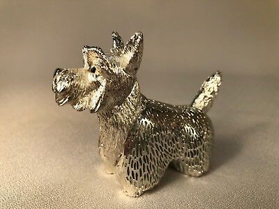 Christofle France Lumiere D'argent West Highland White Terrier Dog, Silverplated