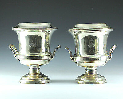 Pair of Georgian Silverplate Wine Coolers, Sheffield England Circa 1810
