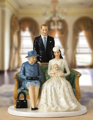 BNIB RRP$315 Royal Doulton Her Majesty Queen A Royal Christening Figurine HN5809