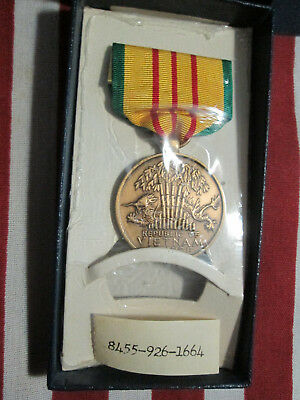 Vietnam Service Medal Boxed Original 1967 His Lordship Contract Hlp-Gi