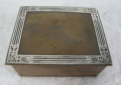 Aesthetic Antique c 1912 Otto Heintz Art Metal Sterling Silver on Bronze Box yqz