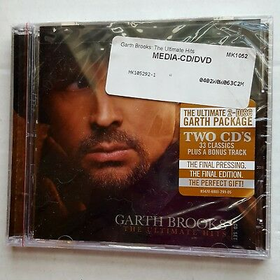 Garth Brooks The Ultimate Hits 2 CD Set 34 Songs 2016 NEW UNOPENED MINT