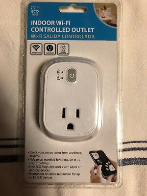 ECO Plugs indoor wi-fi controlled outlet Wireless android iphone iOS