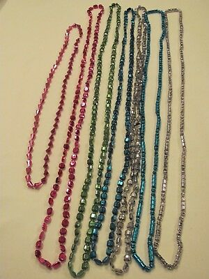 Lot Of 7 Uniquely Shaped And Different Sizes & Colors Mardi Gras Beads