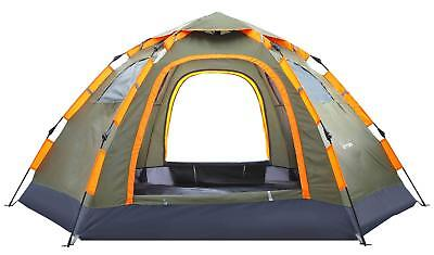 Camping Tent Portable 3-5 Person Family Tent Waterproof Double Doors Vent