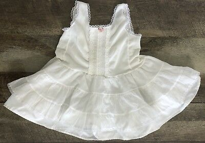 Vintage Toddler Girl Ruffled Full Slip By Stone size 3T Petticoat USA Nylon Lace