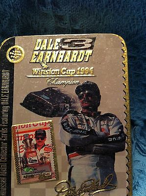 Nos Embossed Metal Collector Cards Featuring Dale Earnhardt Winston Cup 1994