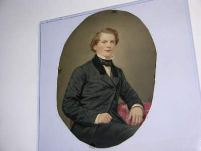 "5 1/2"" x 7 1/2"" Painting of Captain W. Low 1843"