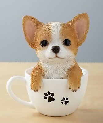 1 Chihuahua Teacup Pup Dog Lover Gift Collectible Cup Home Decor