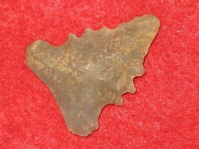 Authentic Native American artifact arrowhead Tennessee Palmer point U1