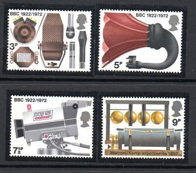 GB 1972 Broadcasting Anniversaries. MNH.One postage for multi  buys