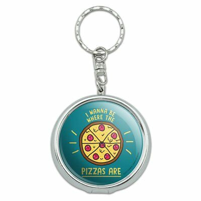 I Wanna Be Where The Pizzas Are Funny Portable Travel Ashtray Keychain