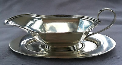 Vintage WATSON Sterling Silver 2 PC Small GRAVY Sauce BOAT & UNDERPLATE 84g