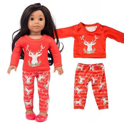 Chirstmas Clothes Pants Shirt For 18 Inch Cute Mini  Boy Doll Accessory Girl Toy