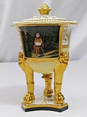 "Classical Revival WILLIAM COWPER ""Truth"" FOOTED URN Incense Burner c1800"
