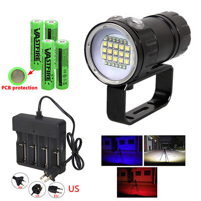 Waterproof XML 27 LED 18000LM Scuba Diving Underwater 500M Flashlight Torch Lamp