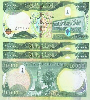 100K (10x10k) NEW IRAQI DINARS 2015 WITH NEW SECURITY FEATURES IQD-UNC! P 101-B