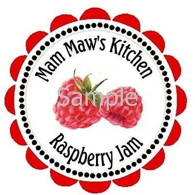 Raspberry Jelly  Canning Labels #2  ~ Laser Printed