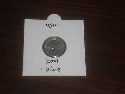 2001 USA 10 Cent coin United States of America ten cents American dime