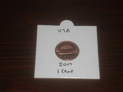 2007 USA 1 Cent coin United State of America one cents Lincoln American shiny