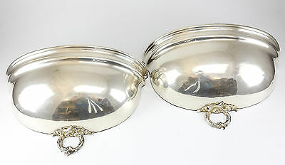 British SilverPlated Wall Sconces / Pocket Converted Serving Dome 19th Century