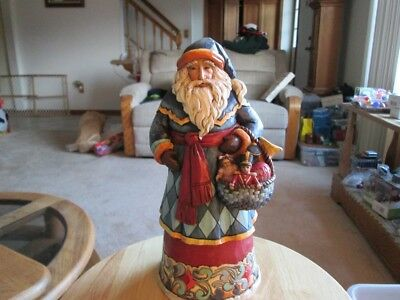Jim Shore 4041065 Gifts From The heart Santa Figure