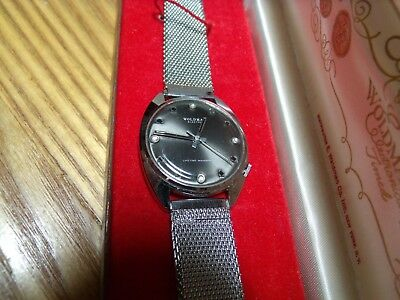Vintage Woldman Electra Mens Watch in Box New Old Stock Runs Exc Silver/Gray