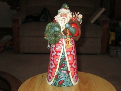 Jim Shore 4041064 Beautiful Winter Treasure Santa Figure