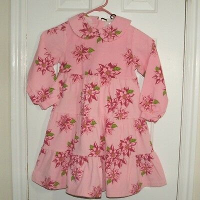 Painting Red Rhinos Pink Corduroy Dress Holiday Girls 4 5 Tights Poinsettia NEW