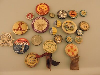 21 Vintage Minneapolis Minnesota St. Paul related pin back buttons