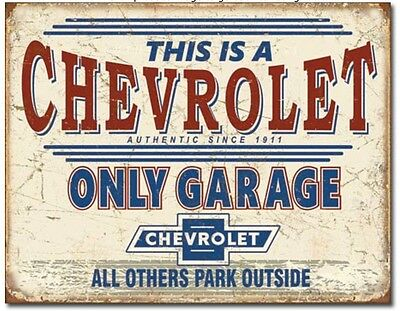 Chevrolet Parking Only Metal Tin Sign Retro Chevy Garage Shop Bar Wall Decor New