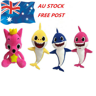 PinkFong Fox Sharks Baby Toys Animal Cartoon Stuffed Toy Plush Dolls Toys