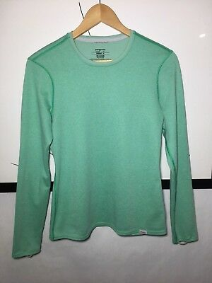 Patagonia Womens Midweight Capilene Long Underwear Crew Neck Top Size S