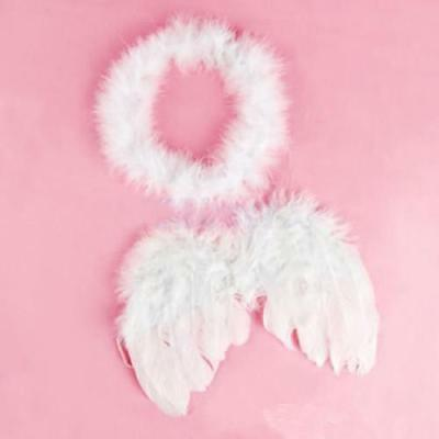 6-18mo Wings Feather Fairy Party Fancy Costume Cosplay Photo Prop Xmas Decor CF