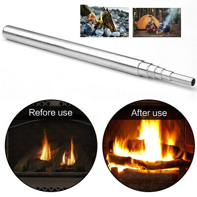 Outdoor  Bellow Collapsible Fire Tools Trip Kit Camping Survival Blow Tube