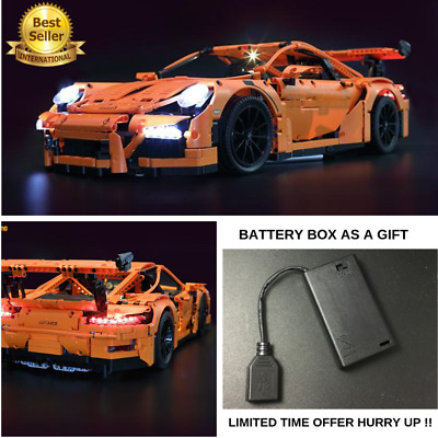 LED Light Kit For LEGO 42056 Porsche 911 GT3 RS Technic + BATTERY BOX AS A GIFT