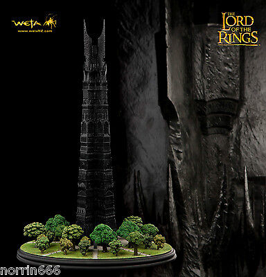 LORD OF THE RINGS ORTHANC diorama de resina 43cm Weta