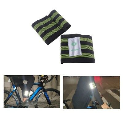Perfeclan 2PCS Cycling Bike Bind Elastic Pants Band Leg Strap Stripes