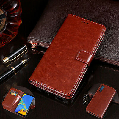 Luxury PU Leather Flip Wallet Phone Case Stand Cover For Samsung A7 J4 J6 A6 S8