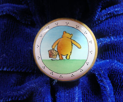 Halcyon Days Enamels Box - Winnie The Pooh - Time for a Picnic